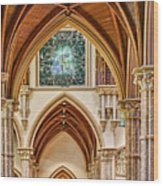 Gothic Arches - Holy Name Cathedral - Chicago Wood Print