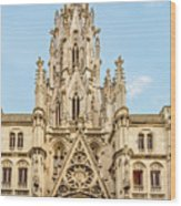 Gothic Cathedral In Havana Wood Print