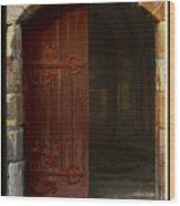 Gothic Church Door Wood Print