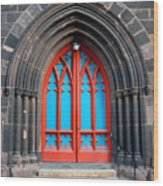 Gothic Church Door Wood Print