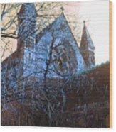 Gothic Church Wood Print
