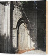 Gothic Darkness. Old Gate Wood Print