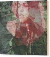 Gothic Flower Wood Print