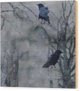 Gothic Gray Wash  Wood Print