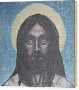Gothic Jesus Wood Print