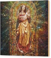 Gothic Madonna And The Child Wood Print