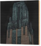 Gothic Night. Architecture Of Los Angeles Wood Print