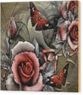 Gothic Roses Wood Print