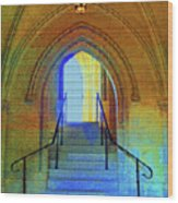 Gothic Steps Wood Print