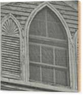 Nantucket Gothic Window  Wood Print