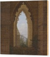 Gothic Windows In The Ruins Of The Monastery At Oybin Wood Print