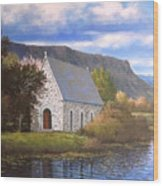 Gougane Barra Cork Wood Print