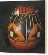 Gourd With Abalone Wood Print