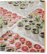 Gourmet Desserts Wood Print