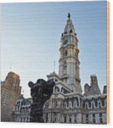 Government Of The People And City Hall Philadelphia Wood Print