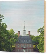 Governor Palace - Williamsburg Wood Print