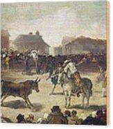 Goya: Bullfight, 1793 Wood Print