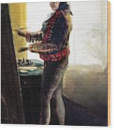 Goya: Self-portrait Wood Print