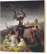 Goya: Witches Sabbath Wood Print