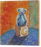 Gq Teddy Wood Print