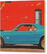 Grabber Blue Boss Wood Print