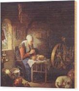 Grace Before Meat Wood Print