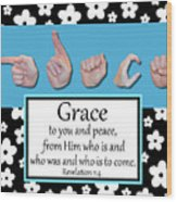 Grace - Bw Graphic Wood Print