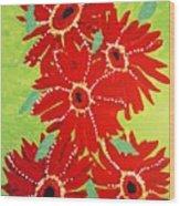 Grace Flowers Wood Print