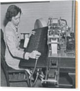 Grace Hopper, American Computer Scientist Wood Print