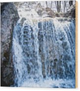 Grace Is A Waterfall Wood Print