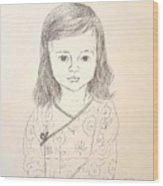 Little Grace Wood Print