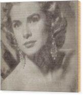 Grace Kelly, Vintage Hollywood Actress Wood Print