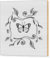 Graceful Butterfly Baby Room Decor Iv Wood Print