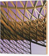 Graceful Grid Wood Print