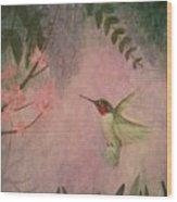 Graceful Hummingbird Wood Print