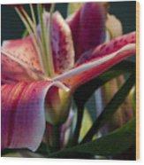Graceful Lily Series 8 Wood Print