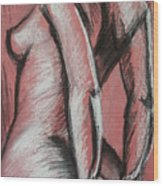 Graceful Pink - Nudes Gallery Wood Print by Carmen Tyrrell