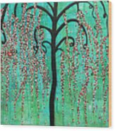 Graceful Willow Print Wood Print