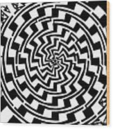 Gradient Tunnel Spin Maze Wood Print