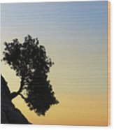 Lonely, Loutro, Chania, Crete, Greece Wood Print