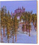 Graf Castle In Blue Wood Print
