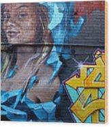 Graffiti 19 Wood Print