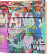 Graffiti 4 Wood Print