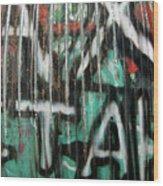 Graffiti Abstract 1 Wood Print