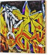 Graffiti Alley I Wood Print