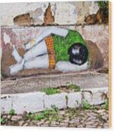 Graffiti Art Lencois Brazil Wood Print