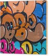 Graffiti Art Nyc 10 Wood Print