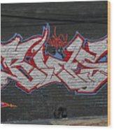 Graffiti Art Nyc 26 Wood Print