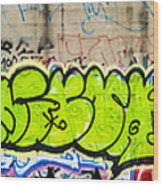 Graffiti Art Nyc 3 Wood Print