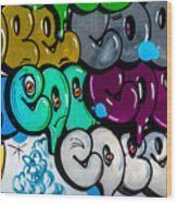 Graffiti Art Nyc 9 Wood Print